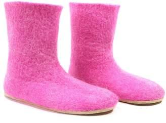 "Felt Forma Women's Organic Wool Booties ""Pink Flamingo"""