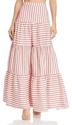 Paper London Coquillage Striped Maxi Skirt