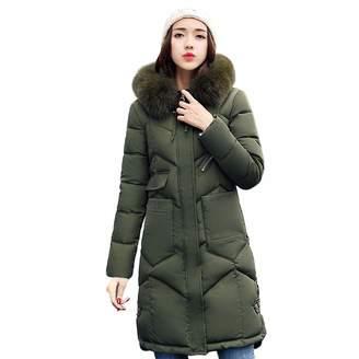 Changeshopping Blouse Women's Parka Hood,Winter Warm Coat Cotton-Padded Jacket Changeshopping