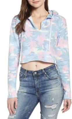 Wildfox Couture Sweet Leaf Camo Crop Hoodie