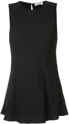Jil Sander long-line sleeveless blouse