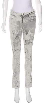 IRO Distressed Mid-Rise Skinny Jeans