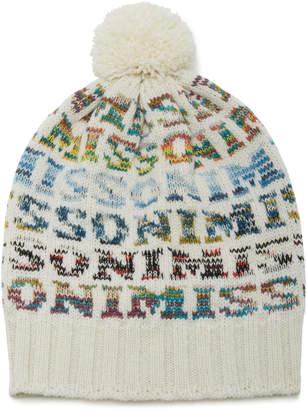 97f678e37b339c Missoni Pom-Pom-Embellished Intarsia-Knit Wool-Blend Beanie