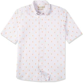 Isle Bay Linens Men's Short Sleeve Prints Woven Slim Shirt Hawaiian