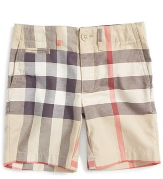 Boy's Burberry 'Tristen' Check Pattern Shorts $135 thestylecure.com
