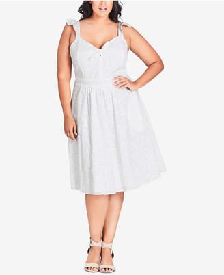 City Chic Trendy Plus Size Cotton Lace Dress