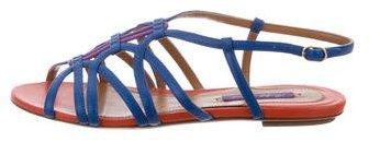 Ralph Lauren Leather Multistrap Sandals