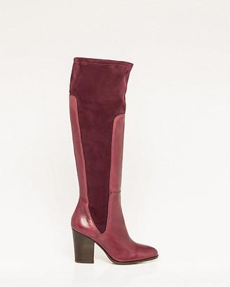 Le Château Italian-Made Leather & Suede-Like Boot
