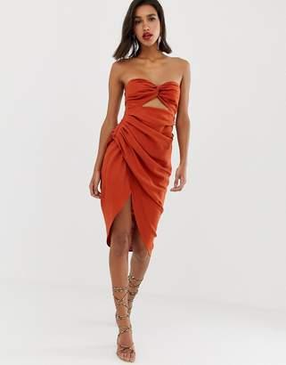 Asos Edition EDITION strappy back midi dress in linen