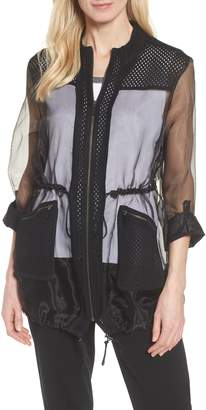 Ming Wang Sheer Jacket