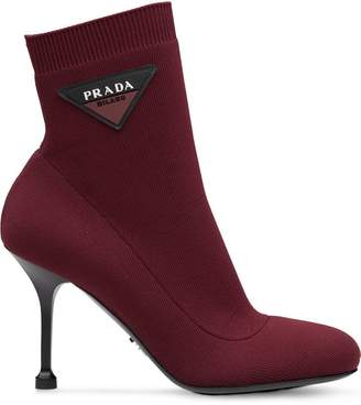 Prada stretch fabric booties