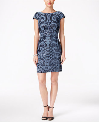 Adrianna Papell Sequined Scoop-Back Dress $219 thestylecure.com