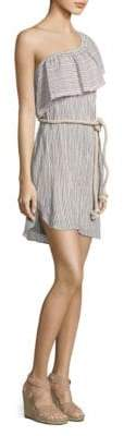Bailey 44 Cotton Ruffle Stripe Dress