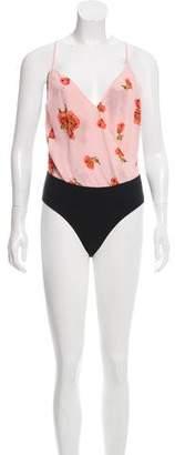 Reformation Crickett Floral Bodysuit w/ Tags