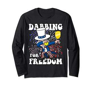 SAM. Dabbing Uncle Pickleball 4th of July Independence Day Long Sleeve T-Shirt