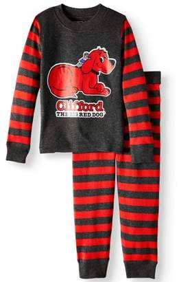 Clifford The Big Red Dog Clifford Baby Toddler Boy or Girl Unisex Tight Fit Pajamas 2pc Set
