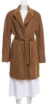 Burberry Knee-Length Wool & Cashmere-Blend Coat