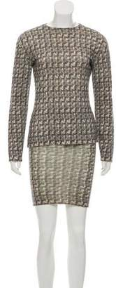 Philosophy di Alberta Ferretti Wool Skirt Set