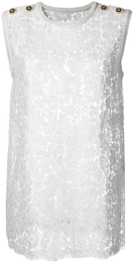 Dolce & GabbanaDolce & Gabbana floral lace tank top
