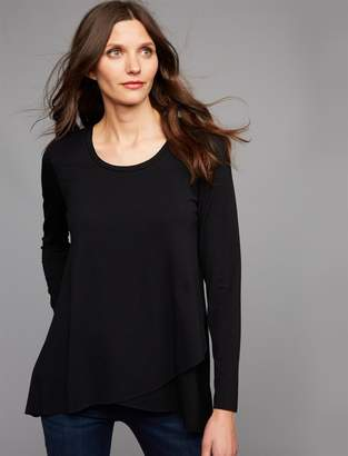 A Pea in the Pod Ripe Pull Over Cross Front Nursing Top