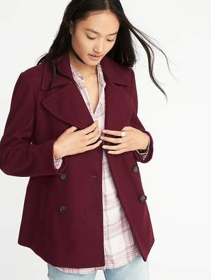 Old Navy Soft-Brushed Peacoat for Women