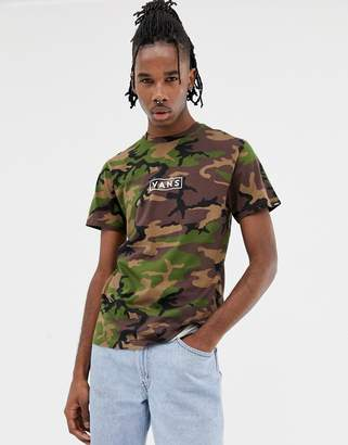 Vans camo t-shirt with back print in green VN0A3HREC9H1