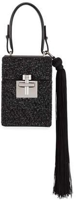 Oscar de la Renta Alibi Box Beaded Top-Handle Bag