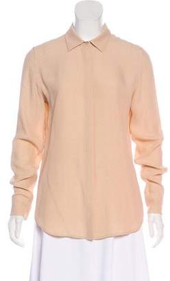 Equipment Long-Sleeve Button-Up Blouse