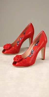 Marc by Marc Jacobs Shoes Rosette Open Toe Pump