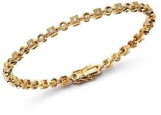 KC Designs 14K Yellow Gold Geometric Diamond Link Bracelet