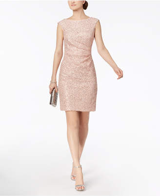 Vince Camuto Sequined Lace Starburst Dress