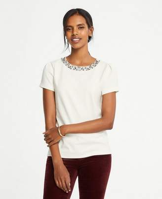 Ann Taylor Petite Necklace Tee