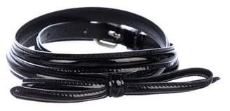 Prada Patent Leather Bow Belt