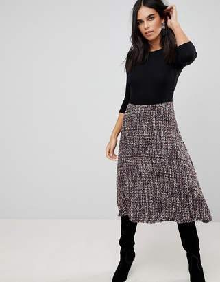 Traffic People 2-In-1 Textured Midi Dress