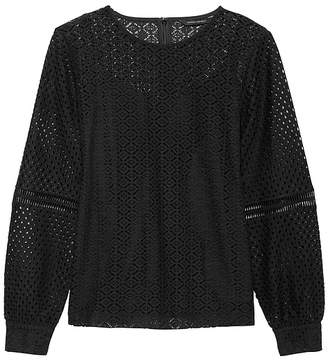 Banana Republic Petite Mixed Lace Top with Camisole