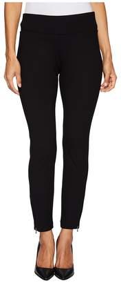NYDJ Petite Petite Pull-On Legging Pants w/ Ankle Zip in Black Women's Jeans