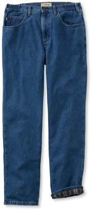 L.L. Bean L.L.Bean Double L Jeans, Flannel-Lined Natural Fit Comfort Waist