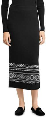 Ralph Lauren Fair Isle Midi Skirt