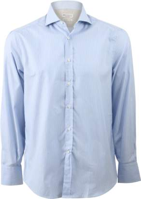 Brunello Cucinelli Striped Spread Collar Shirt