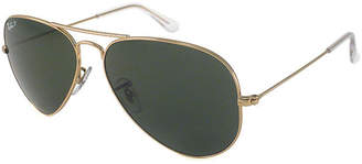 Ray-Ban Sunglasses - Rb3025 Aviator Large Metal /Frame: Gold (55Mm) Lens: Green