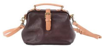 EAZO - Flap Over Cross Body Leather Bag In Dark Brown