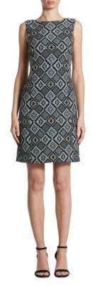 Akris Punto Diamond Jacquard Shift Dress