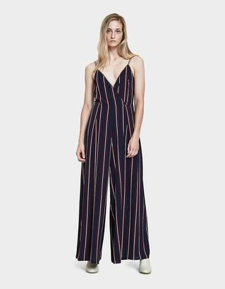 Oakley Stelen Jumpsuit in Navy/Burgundy