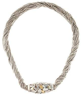 Cartier Two-Tone Leaf Torsade Necklace