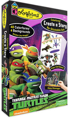 COLORFORMS Colorforms Create A Story Teenage Mutant Ninja Turtles Re-Stickable Playset