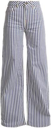 ROCKINS Mega Loon high-rise wide-leg striped jeans