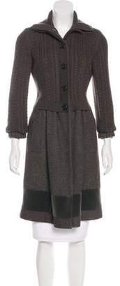 Etro Knee-Length Wool Coat