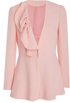 DELPOZO Pleated Crepe Blazer