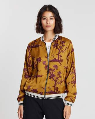 Maison Scotch Reversible Embroidered Bomber Jacket