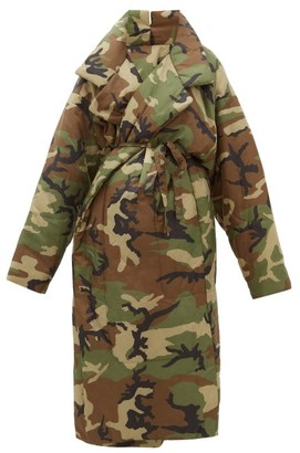 Norma Kamali Sleeping Bag Camouflage Padded Coat - Womens - Camouflage